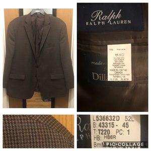 Ralph Ralph Lauren Mens Blazer/Sports Coat 52L
